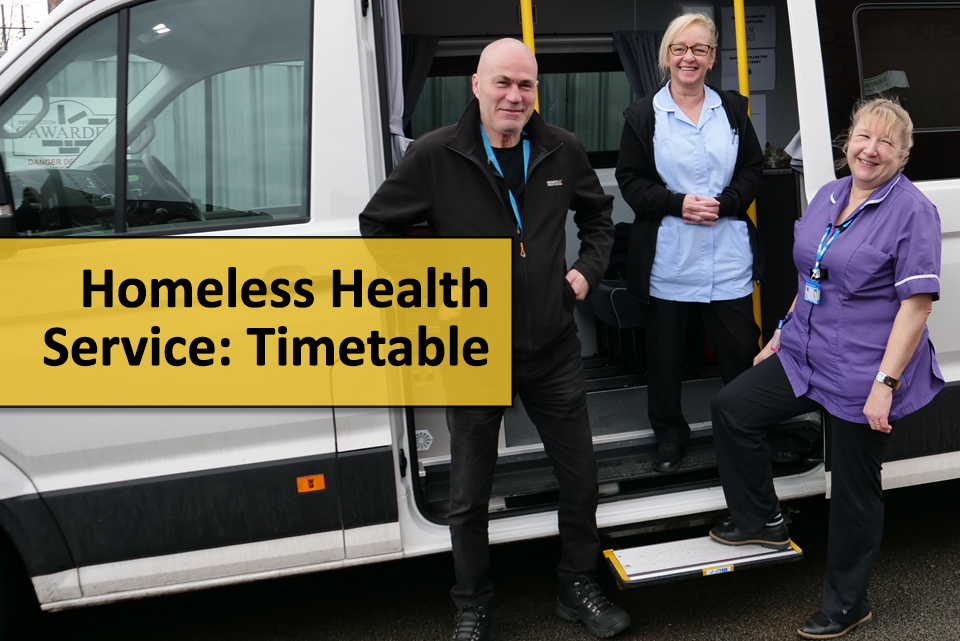 VOICES homeless health service timetable
