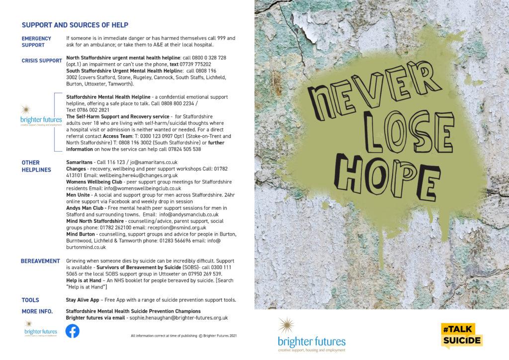 VOICES Mental Health & Suicide Prevention Leaflet pg1